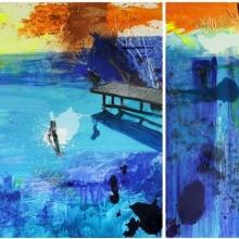 Agnieszka.Zawisza.Blue Lake Tryptyk.140x270cm