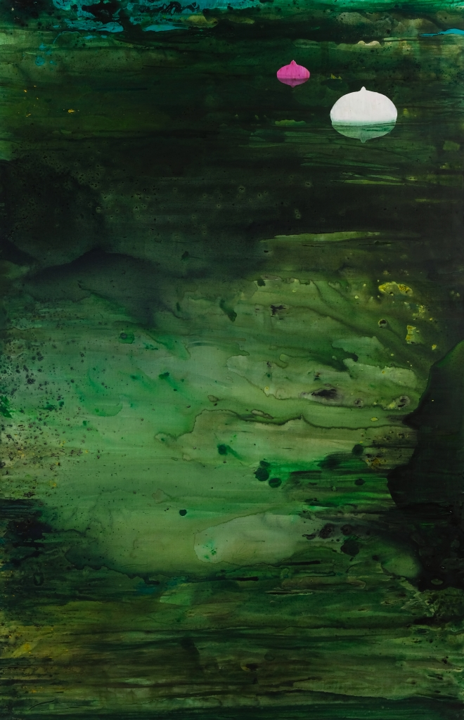 Boje w wodzie/ Buoys in the Water/ 200 x 130 cm