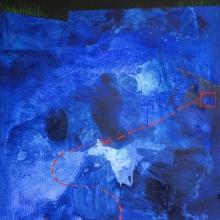 Droga do skarbu I, 110 x 90 cm, olej na płótnie