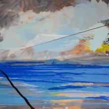Wisła II, 110 x 140 cm, olej na płótnie