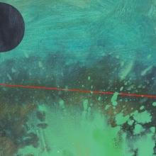 zielona plama, 37 x 50 cm, olej na płótnie